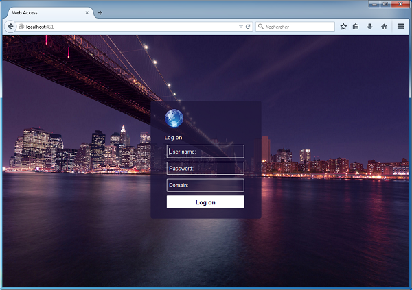RDS-WebAccess is using HTML5 to open Remote Desktop with any web browser. good Screen Shot